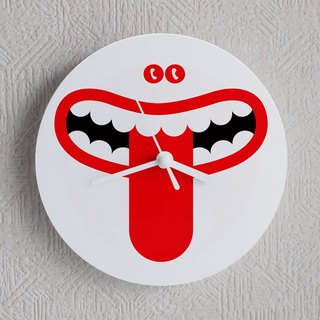 Muff Wall clock Illustration watch Simple design symbol Okeke ghost belo tongue Akkanbe Youkai humorous