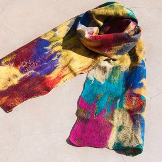 Wool felt scarves / wet felt scarves / watercolor art scarf / wool gradient scarves - colorful candy