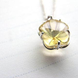 [Golden Flowers] Citrine x 925 Silver Bag - November Birthstone - Handmade Natural Stone Series