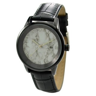 Marble Pattern Watch Black Case Black Face - Free shipping