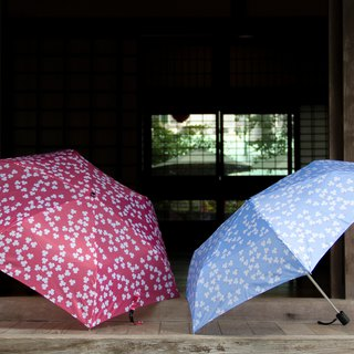 Colorful floral anti-UV umbrella – Blush & limited blue