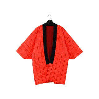 Back to Green :: 袢 day Japan home cotton jacket shop cotton bright orange // unisex wear / vintage (BT-19)