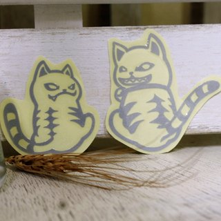 NINKYPUP reflective stickers Fat Cat 3.2 * 4cm