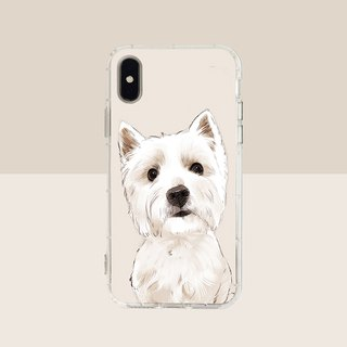 Big face West highland embossed air shell-iPhone/Samsung, HTC.OPPO. ASUS original pet phone case