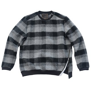 WOOL PLAID SWEATER