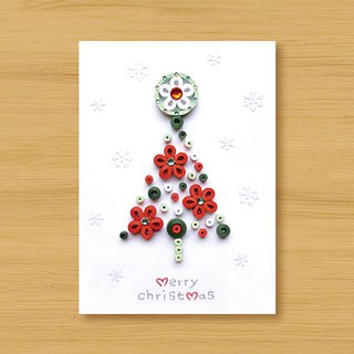 Hand-rolled paper stereo card _ Snow Country Christmas Tree _A ..... Christmas Card