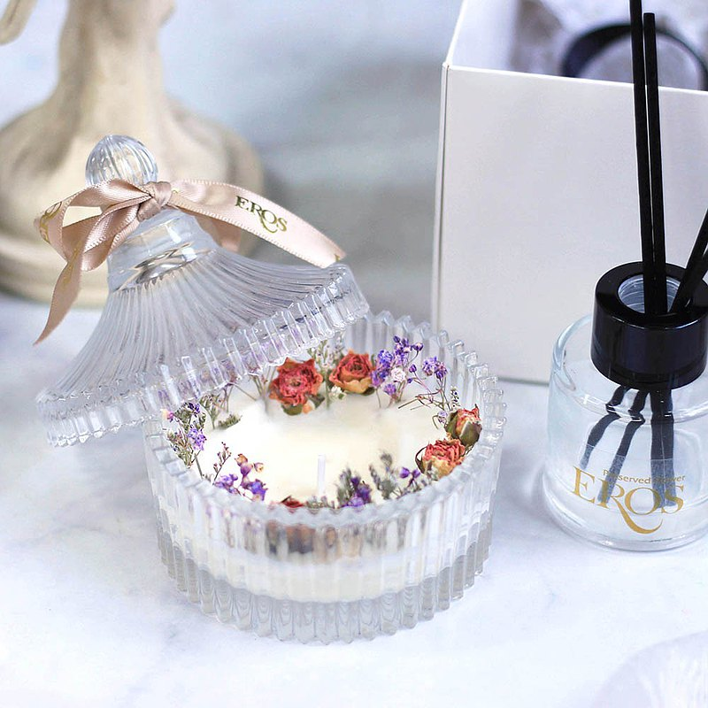 乾燥花香氛蠟擴香 蠟燭禮盒 交換禮物 情人節禮物 香氛禮盒