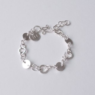 Full Circle (2) - Sterling Silver Circle Bracelet / Custom Knock