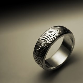 Narrow version of wood pattern ring