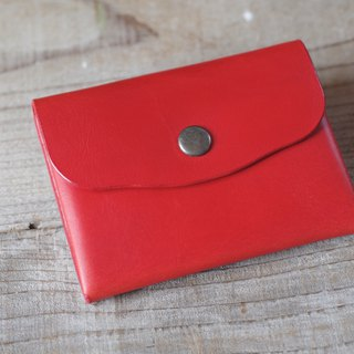 Nume leather coin hand sewn case red