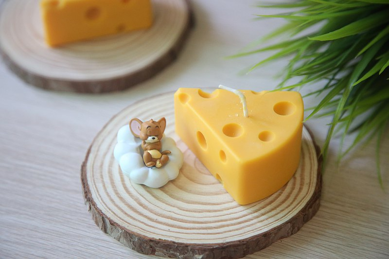 Dessert Series│Cheese Cheese Candle-Natural Essential Oil Soy Candle Favorites of Tom Cat and Jerry Rat