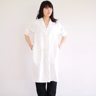 Ethical Hemp Open Collar Shirts One-piece White Size M