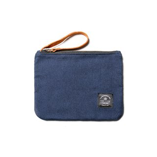 Leather canvas universal small bag cosmetic bag hidden blue DG43