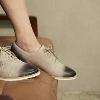 [Show products clear] hand rub color college strap oxford shoes gray