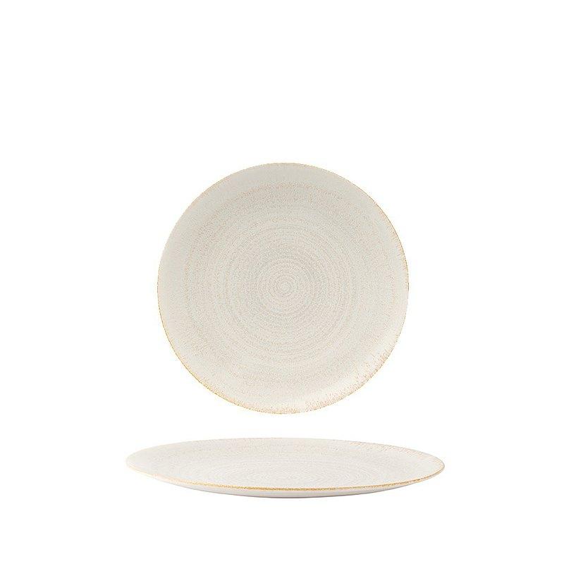 E.C.O.大地系列-27CM餐盤-珍珠白