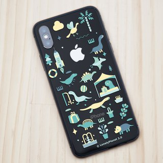 Lonely Planet 2.0 Mobile Shell - Dinosaurs Goes to Market - Green - Transparent (Custom)