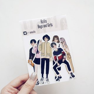 ◆ Boys and Girls ◆ 6 into sticker set