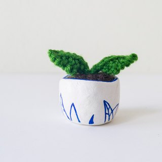 Miniature Knitted Plant - home decor