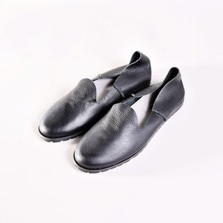 Flat leather shoes - GILL black