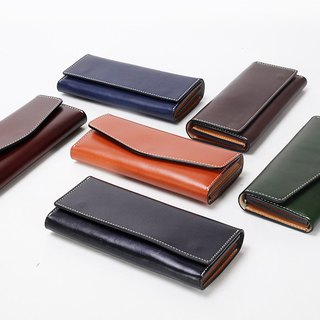 New AMEET color colour series vegetable tanned leather long wallet handbags evening bag multicolor