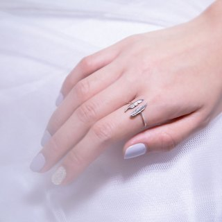Twin Feather Rings (Silver)