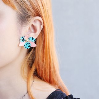 Philosopher  - Hand Made Earrings (Pink Leopard)