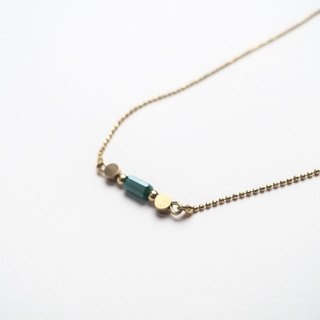 Glass Chain necklace (green)