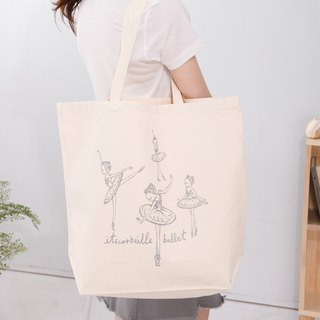Swan Lake - Odette Swan Princess White Canvas Big Tote Handbag