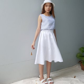 Linen Daily Skirt - White