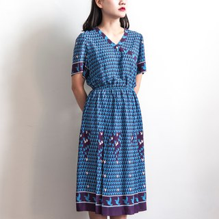 Vintage Bluebird Vintage short-sleeved dress