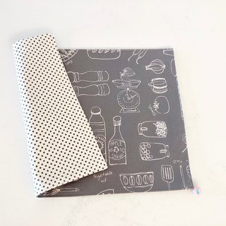 Manual Placemats - Tarpaulins - Wool Felt Balls - Grey Groceries