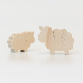 wagaZOO thick cut shape building block farm series - sheep