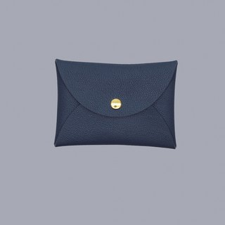 Customized hot leather macaron dark blue card sets / wallet / card holder / card case
