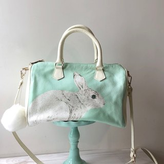 adc | animal | lychee pattern | leather | leather | dual purpose bag | rabbit | Boston bag | bag