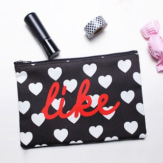 Love heart canvas zipper admission package