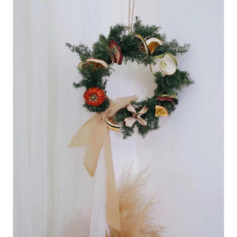 Christmas Wreath-Fruit Wreath | Dry Wreath/Christmas Wreath/Wreath DIY Handmade Material Pack
