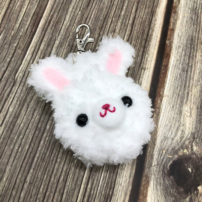白兔兒-gogoro鑰匙套 電動機車鑰匙套 鑰匙包 毛線編織鑰匙圈