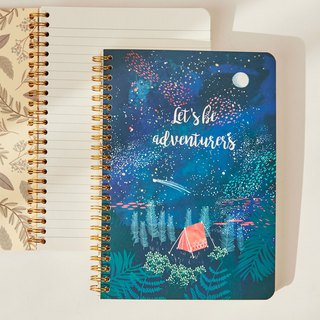 7321 Design Mia Gold Ring Notebook - Starry Night, 73D74034