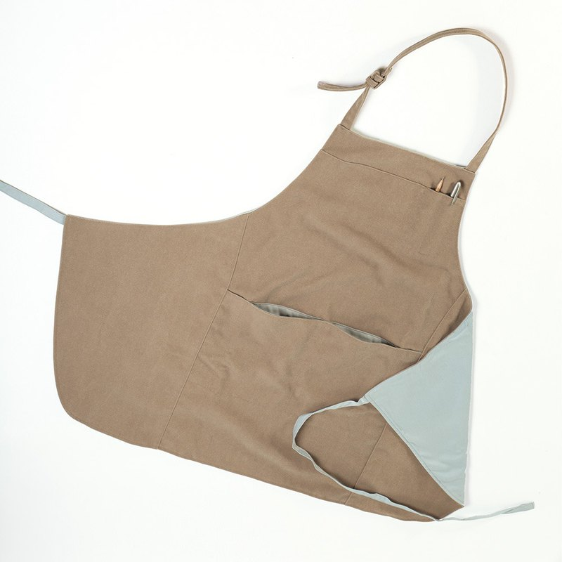 New color listing - Extended fashion work apron - camel
