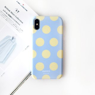 Water blue goose yellow dot mobile phone case