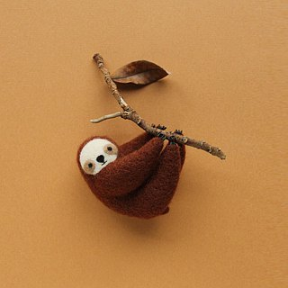 Le Yang, good fun wool felt kit - lazy sloth