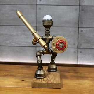 New Creative table lamp pipe robot warrior robot gift ornaments handmade