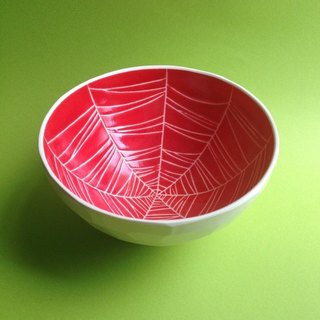 Bowl / bowl (spider web) red bowl (spider web) red