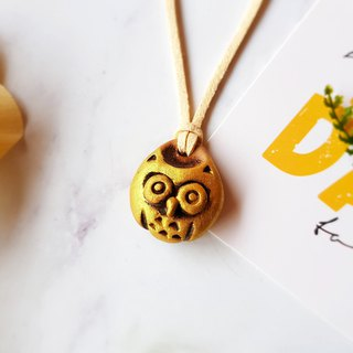 B-34 Owl Necklace│Yoshino Hawk x Charm Pure hand-made design Ceramic key ring Healing Cute Unique Gift