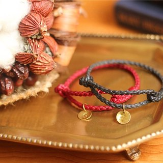[UNA- excellent Na] Exclusive handmade wax line silk brass bracelets customized