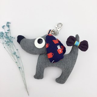 Wang ~ backpack charm with a bow tied at the tail