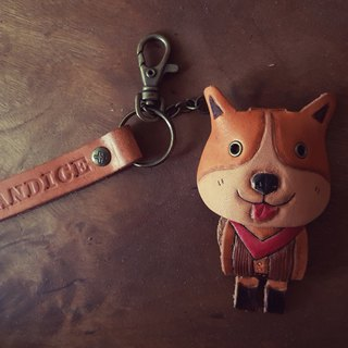 Little cowboy Meeks pure leather key ring - can be lettering