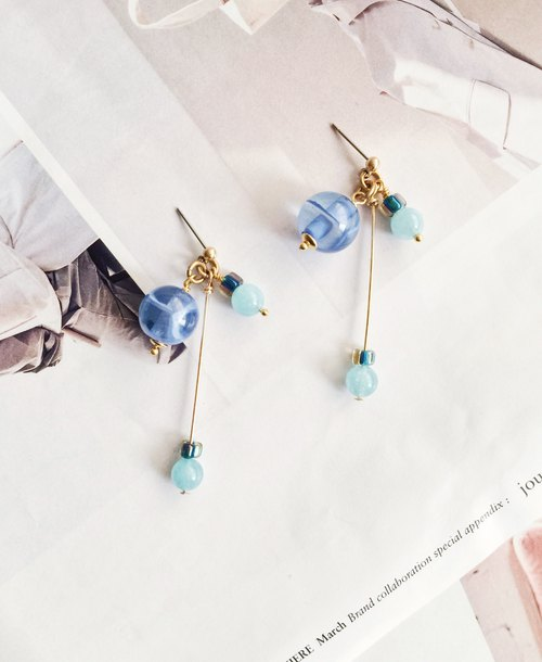 La Don - Earrings - Rain Drop Ear Pins / Ear Clips