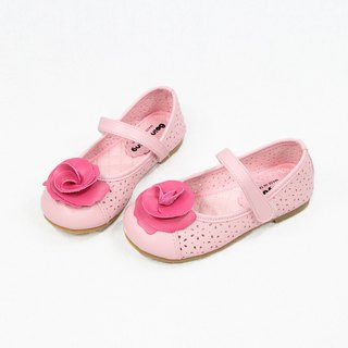 Three-dimensional rose doll shoes - romantic pink children's shoes