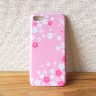 Plastic android phone case - Japanese Cherry Blossoms and Swallow -